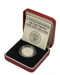 1984 Silver Proof Piedfort One Pound for sale